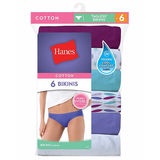 Hanes Cool Comfort Women's Cotton Bikini Panties 6-Pack PP42WB