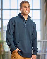 J. America Ripple Fleece Snap Sweatshirt 8708