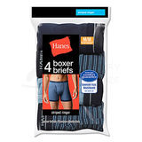 Hanes Mens TAGLESS Boxer Briefs with Comfort Flex Waistband 3X-5X 4-Pk 312HNBX4