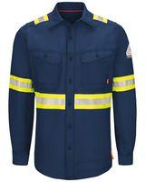 Bulwark iQ Series Endurance Enhanced Visibility Work Shirt Long Sizes QS40EL