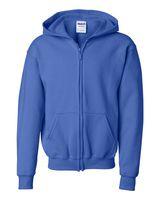 Gildan Heavy Blend Youth Full-Zip Hooded Sweatshirt 18600B