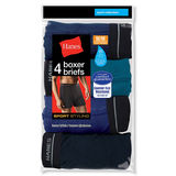 Hanes Men's Sport Styling Boxer Brief (2X) 4-Pack 2396P4