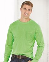 Bayside USA-Made Long Sleeve T-Shirt with a Pocket 8100