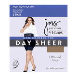 JMS Smooth Finish Regular Reinforced Toe Panty Hose 2-PK 88800