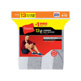 Hanes Mens Cushion No-Show Socks 13-Pack 190V13