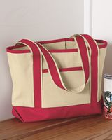 Q-Tees 20L Small Canvas Deluxe Tote Q125800