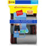 Hanes Men's FreshIQ Cool Comfort Breathable Mesh Boxer Brief 5-Pack LB239Z