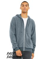 BELLA + CANVAS Fast Fashion Unisex Sueded Fleece Full-Zip Hoodie 3339