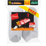Hanes EZ-Sort Boys No-Show Socks 11-Pack 424/11