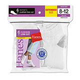 Hanes Womens Low Cut Cushion Socks 6-Pk (Shoe Size 8-12) 680/6P