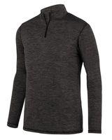 Augusta Sportswear Youth Intensify Black Heather Quarter-Zip Pullover 2956