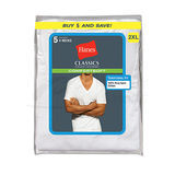 Hanes Classic Big Mens V-Neck T-Shirt 5-Pk 7880W5