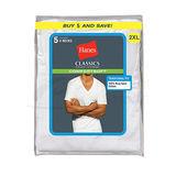 Hanes Classic Big Mens V-Neck T-Shirt 5-Pk 7880W5