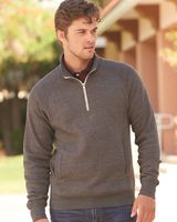 J. America Triblend Quarter-Zip Sweatshirt 8869