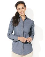 Sierra Pacific Women's Long Sleeve Denim Shirt 5211