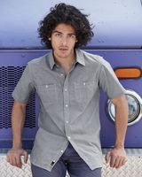 Burnside Mini-Check Short Sleeve Shirt 9257