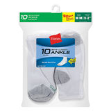 Hanes Boys Ankle EZ Sort Socks 10-Pk 422/10