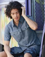 Burnside Chambray Short Sleeve Shirt 9255