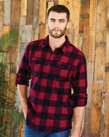 Burnside Yarn-Dyed Long Sleeve Flannel Shirt 8210