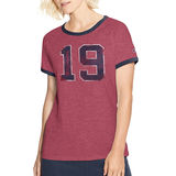 Champion Women's Heritage Ringer Tee-Big 19 W9843G 549695