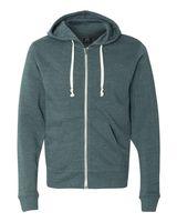 J. America Triblend Hooded Full-Zip Sweatshirt 8872
