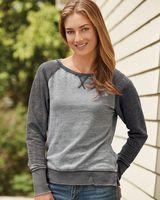 J. America Women's Zen Fleece Raglan Crewneck Sweatshirt 8927
