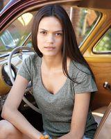 J. America Women's Twisted Slub Scoopneck T-Shirt 8260
