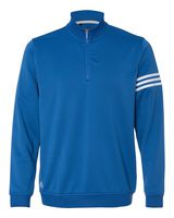 Adidas ClimaLite 3-Stripes French Terry Quarter-Zip Pullover A190