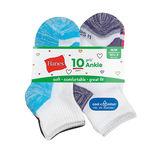 Hanes Girls' Cool Comfort Ankle Socks 10-Pack HGBA10