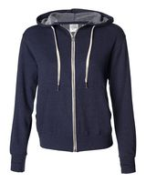 Independent Trading Co. Unisex French Terry Heathered Hooded Full-Zip Sweatshirt PRM90HTZ