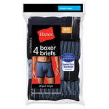 Hanes Men's Ringer Boxer Brief with Comfort Flex Waistband 4-Pk 7347P4