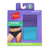 Hanes Women's Cotton Stretch Bikinis 2-Pack D42EAS