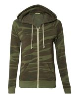 Alternative Eco-Fleece Women's Adrian Hooded Full-Zip Sweatshirt 9573