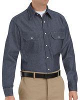 Red Kap Deluxe Denim Long Sleeve Shirt Long Sizes SD78L