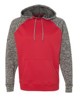 J. America Colorblock Cosmic Fleece Hooded Pullover Sweatshirt 8612