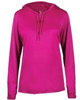 Badger Women's B-Core Long Sleeve Hooded Tee 4165