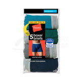 Hanes Mens TAGLESS Boxer Briefs with Comfort Flex Waistband 5-Pk 7349Z5