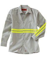 Red Kap Industrial Enhanced-Visibility Long Sleeve Work Shirt SP14E
