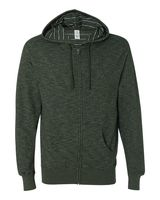 Independent Trading Co. Baja Stripe French Terry Hooded Full-Zip Sweatshirt PRM22BZ