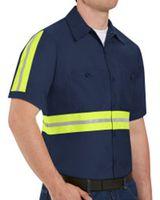 Red Kap Enhanced Visibility Industrial Work Shirt SP24E