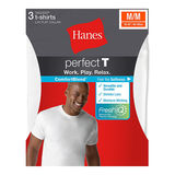 Hanes ComfortBlend Mens Perfect T White Crewneck Undershirt 3-Pack 2535H3