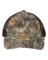 Outdoor Cap Camo Cap with Mesh Back and American Flag Undervisor CWF310