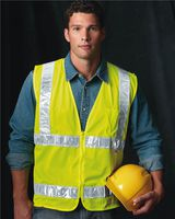 Bayside USA Made Mesh Safety Vest 3785