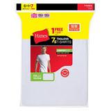 Hanes Mens White TAGLESS ComfortSoft Crewneck Undershirt 7-Pk (Includes 1 Free Bonus Crewneck) 2135C7