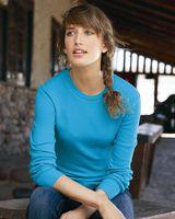 J. America Women's Cortney Long Sleeve Thermal T-Shirt 8234