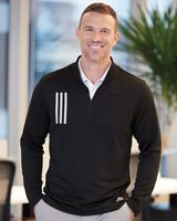 Adidas 3-Stripes Double Knit Quarter-Zip Pullover A482