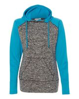 J. America Women's Colorblock Cosmic Fleece Hooded Pullover Sweatshirt 8618