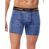 Hanes Men's Lightweight Space Dye Boxer Brief 4-Pack XTMBA4