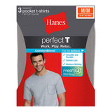 Hanes ComfortBlend Mens Perfect T Dyed Pocket Crewneck Undershirt 3-Pack 2576H3