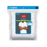 Hanes Classics Mens Traditional Fit ComfortSoft TAGLESS Crewneck Undershirt 3-Pk 7870W3